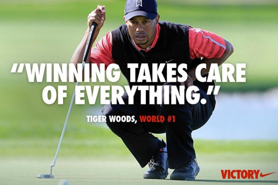 Photo courtesy of: http://espn.go.com/golf/story/_/id/9100497/nike-winning-takes-care-everything-tiger-woods-ad-draws-critics